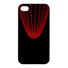 Normal Field Of An Elliptic Paraboloid Red Apple Iphone 4/4s Hardshell Case by Mariart