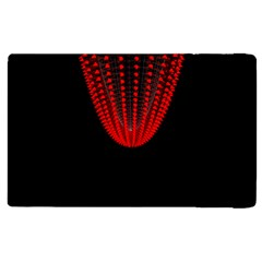 Normal Field Of An Elliptic Paraboloid Red Apple Ipad 3/4 Flip Case by Mariart