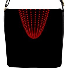 Normal Field Of An Elliptic Paraboloid Red Flap Messenger Bag (s) by Mariart