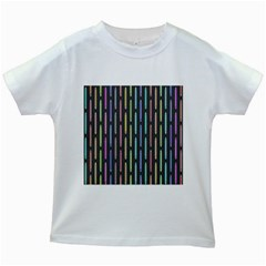 Pencil Stationery Rainbow Vertical Color Kids White T Shirts by Mariart