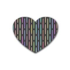 Pencil Stationery Rainbow Vertical Color Heart Coaster (4 Pack)  by Mariart