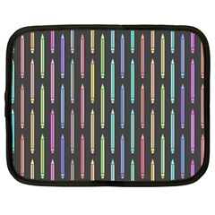Pencil Stationery Rainbow Vertical Color Netbook Case (xl)  by Mariart
