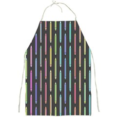 Pencil Stationery Rainbow Vertical Color Full Print Aprons