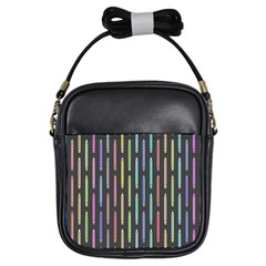 Pencil Stationery Rainbow Vertical Color Girls Sling Bags by Mariart