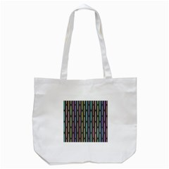 Pencil Stationery Rainbow Vertical Color Tote Bag (white) by Mariart