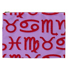 Illustrated Zodiac Red Purple Star Cosmetic Bag (xxl)  by Mariart