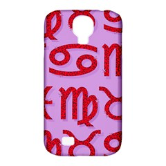 Illustrated Zodiac Red Purple Star Samsung Galaxy S4 Classic Hardshell Case (pc+silicone) by Mariart