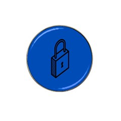 Padlock Love Blue Key Hat Clip Ball Marker (10 Pack) by Mariart