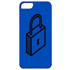 Padlock Love Blue Key Apple Iphone 5 Classic Hardshell Case by Mariart