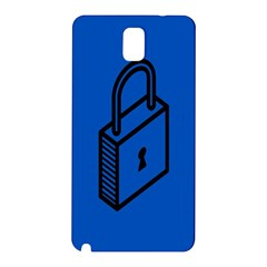 Padlock Love Blue Key Samsung Galaxy Note 3 N9005 Hardshell Back Case by Mariart