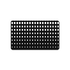 Plaid White Black Magnet (name Card) by Mariart