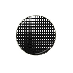 Plaid White Black Hat Clip Ball Marker by Mariart