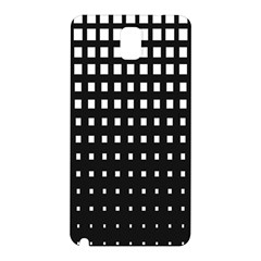 Plaid White Black Samsung Galaxy Note 3 N9005 Hardshell Back Case by Mariart