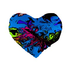 Colors Standard 16  Premium Heart Shape Cushions by Valentinaart