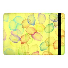 Watercolors On A Yellow Background          Samsung Galaxy Tab Pro 8 4  Flip Case by LalyLauraFLM