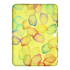 Watercolors On A Yellow Background          Samsung Galaxy Tab 4 (8 ) Hardshell Case by LalyLauraFLM