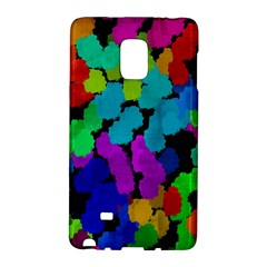 Colorful Strokes On A Black Background         Samsung Galaxy Note 4 Leather Folio by LalyLauraFLM