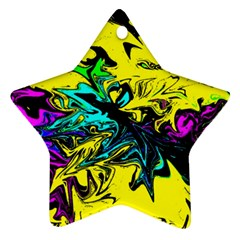 Colors Star Ornament (two Sides) by Valentinaart