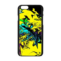 Colors Apple Iphone 6/6s Black Enamel Case by Valentinaart