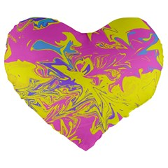 Colors Large 19  Premium Heart Shape Cushions by Valentinaart