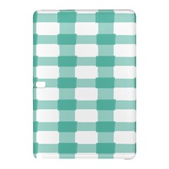 Plaid Blue Green White Line Samsung Galaxy Tab Pro 10 1 Hardshell Case by Mariart
