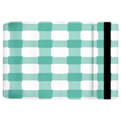 Plaid Blue Green White Line Ipad Air 2 Flip by Mariart