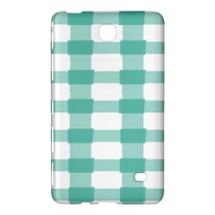 Plaid Blue Green White Line Samsung Galaxy Tab 4 (8 ) Hardshell Case  by Mariart