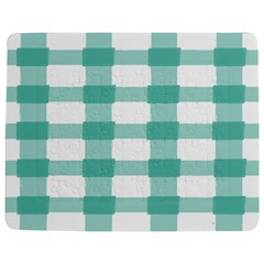 Plaid Blue Green White Line Jigsaw Puzzle Photo Stand (rectangular) by Mariart