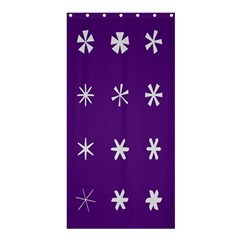 Purple Flower Floral Star White Shower Curtain 36  X 72  (stall)  by Mariart