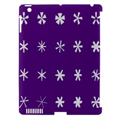 Purple Flower Floral Star White Apple Ipad 3/4 Hardshell Case (compatible With Smart Cover) by Mariart
