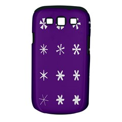 Purple Flower Floral Star White Samsung Galaxy S Iii Classic Hardshell Case (pc+silicone) by Mariart