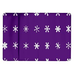 Purple Flower Floral Star White Samsung Galaxy Tab 10 1  P7500 Flip Case by Mariart