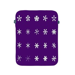 Purple Flower Floral Star White Apple Ipad 2/3/4 Protective Soft Cases by Mariart
