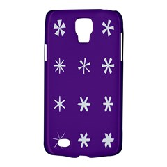 Purple Flower Floral Star White Galaxy S4 Active by Mariart