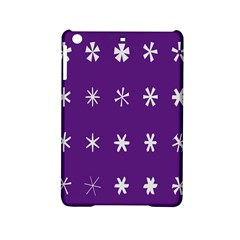 Purple Flower Floral Star White Ipad Mini 2 Hardshell Cases by Mariart