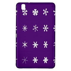 Purple Flower Floral Star White Samsung Galaxy Tab Pro 8 4 Hardshell Case by Mariart
