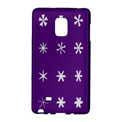 Purple Flower Floral Star White Galaxy Note Edge by Mariart