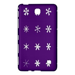 Purple Flower Floral Star White Samsung Galaxy Tab 4 (7 ) Hardshell Case  by Mariart
