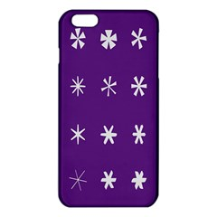 Purple Flower Floral Star White Iphone 6 Plus/6s Plus Tpu Case by Mariart