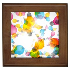 Lamp Color Rainbow Light Framed Tiles by Mariart