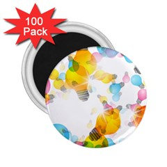 Lamp Color Rainbow Light 2 25  Magnets (100 Pack)  by Mariart