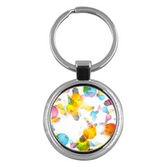 Lamp Color Rainbow Light Key Chains (round)  by Mariart