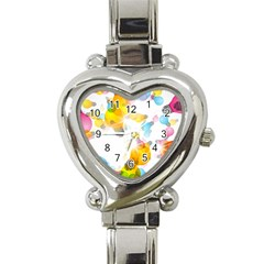 Lamp Color Rainbow Light Heart Italian Charm Watch by Mariart
