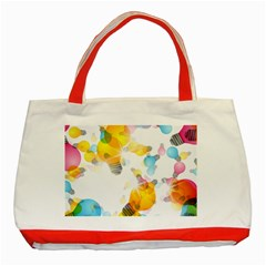 Lamp Color Rainbow Light Classic Tote Bag (red) by Mariart