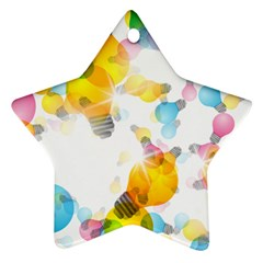 Lamp Color Rainbow Light Star Ornament (two Sides)