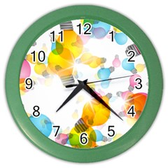 Lamp Color Rainbow Light Color Wall Clocks by Mariart