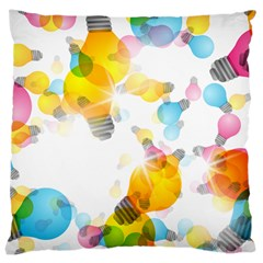 Lamp Color Rainbow Light Large Cushion Case (two Sides) by Mariart