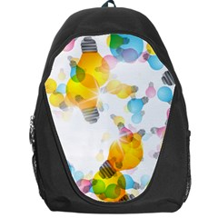 Lamp Color Rainbow Light Backpack Bag by Mariart
