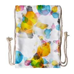 Lamp Color Rainbow Light Drawstring Bag (large) by Mariart
