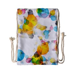 Lamp Color Rainbow Light Drawstring Bag (small) by Mariart